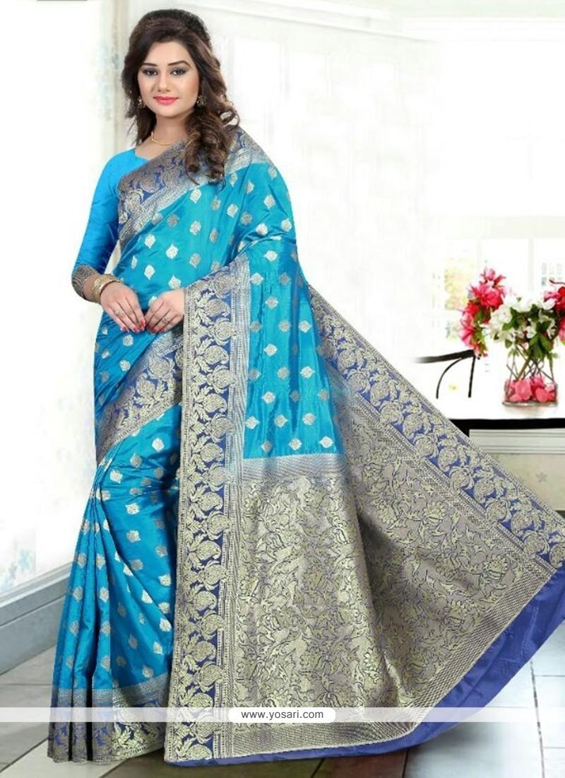 Alluring Banglori Silk Weaving Work Traditional Designer Saree