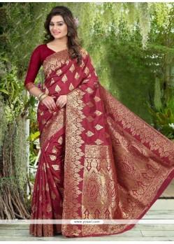 Innovative Banglori Silk Weaving Work Designer Traditional Saree