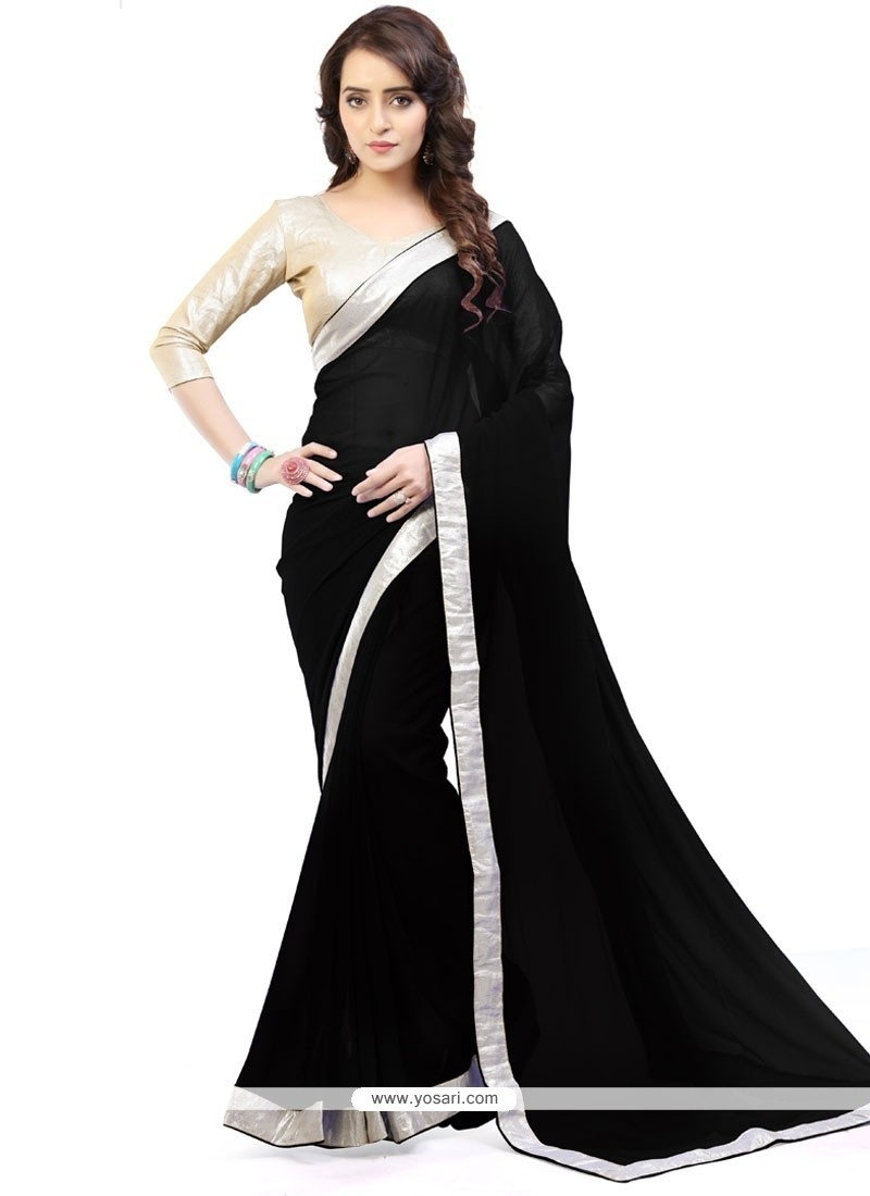 Glossy Lace Work Casual Saree