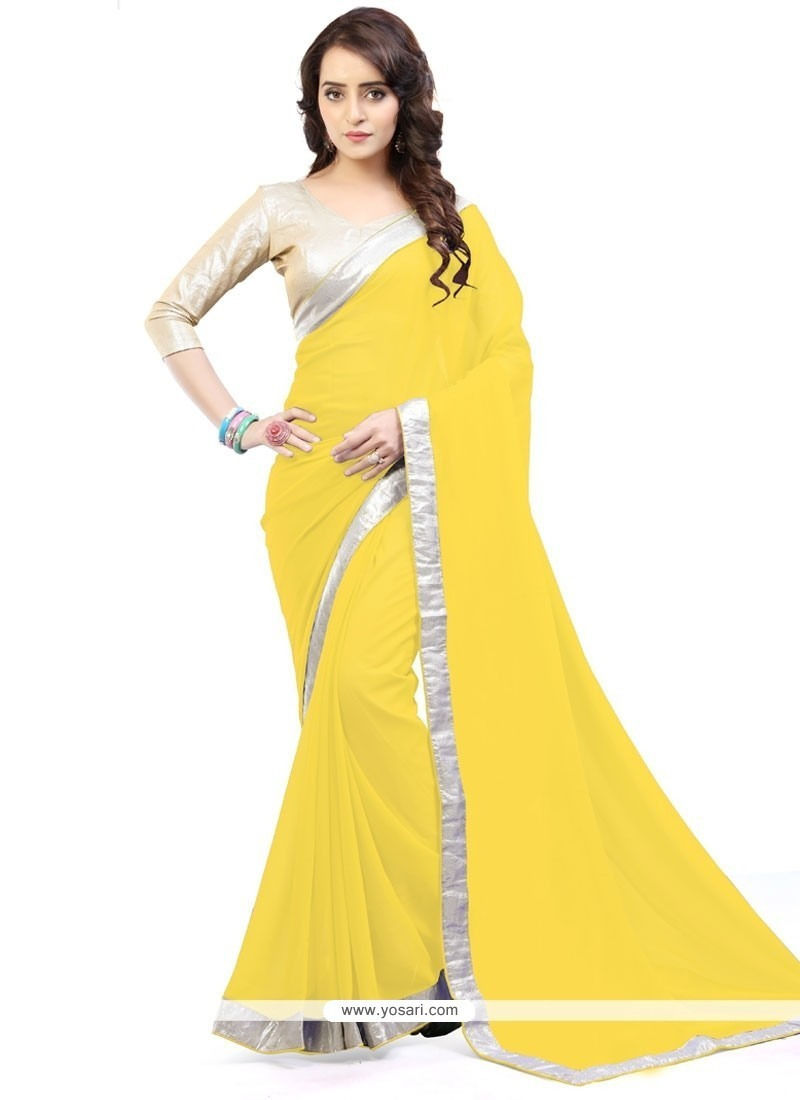 Whimsical Lace Work Casual Saree