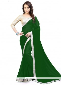 Staring Lace Work Casual Saree