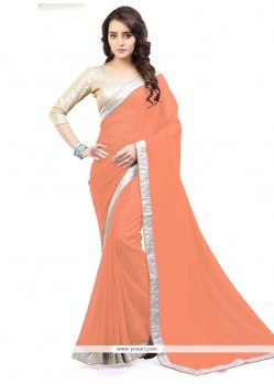 Invigorating Faux Georgette Lace Work Casual Saree
