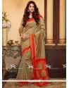 Glowing Beige Weaving Work Designer Traditional Saree