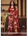 Mystical Red Cotton Silk Traditional Designer Saree