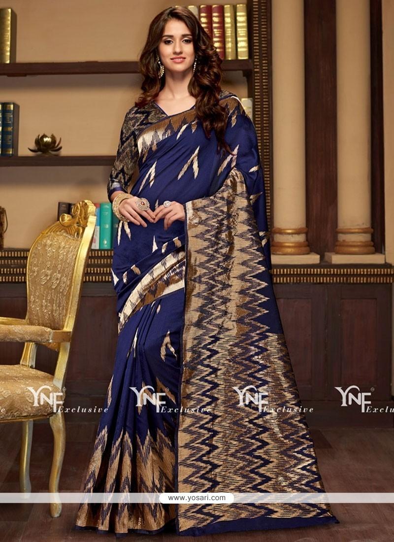 Precious Weaving Work Cotton Silk Traditional Designer Saree