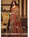 Girlish Cotton Silk Beige Traditional Saree