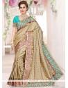 Fascinating Art Silk Beige Traditional Saree