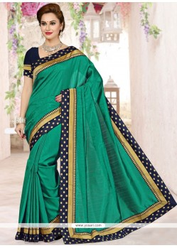 Grandiose Art Silk Sea Green Traditional Saree