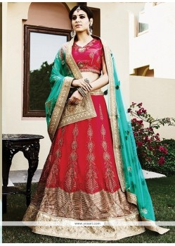 Modern Net Hot Pink Lehenga Choli
