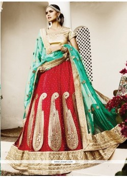 Latest Net Red Lehenga Choli