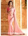 Prepossessing Art Silk Lace Work Traditional Saree