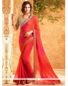 Prime Faux Georgette Embroidered Work Classic Saree