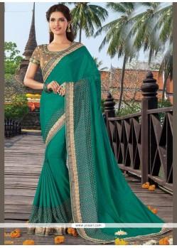 Majestic Patch Border Work Art Silk Traditional Designer Saree