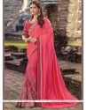 Winsome Art Silk Hot Pink Traditional Saree