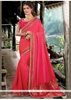 Excellent Art Silk Red Traditional Designer Saree