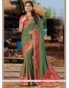 Delightsome Art Silk Patch Border Work Designer Traditional Saree