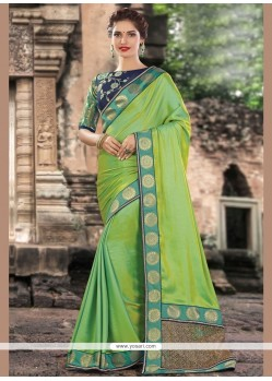 Picturesque Art Silk Embroidered Work Traditional Saree