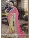 Capricious Designer Half N Half Saree For Wedding