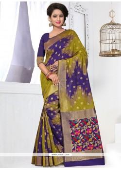 Hypnotic Banarasi Silk Multi Colour Traditional Saree