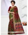 Appealing Weaving Work Traditional Designer Saree
