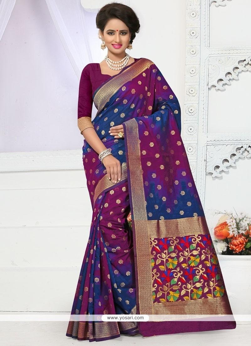 Especial Multi Colour Banarasi Silk Traditional Designer Saree