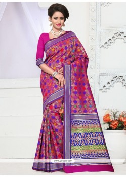 Glowing Weaving Work Traditional Designer Saree