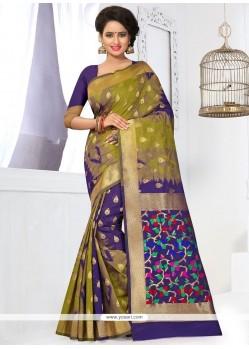 Sparkling Banarasi Silk Weaving Work Designer Traditional Saree