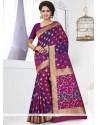 Tempting Banarasi Silk Weaving Work Traditional Saree