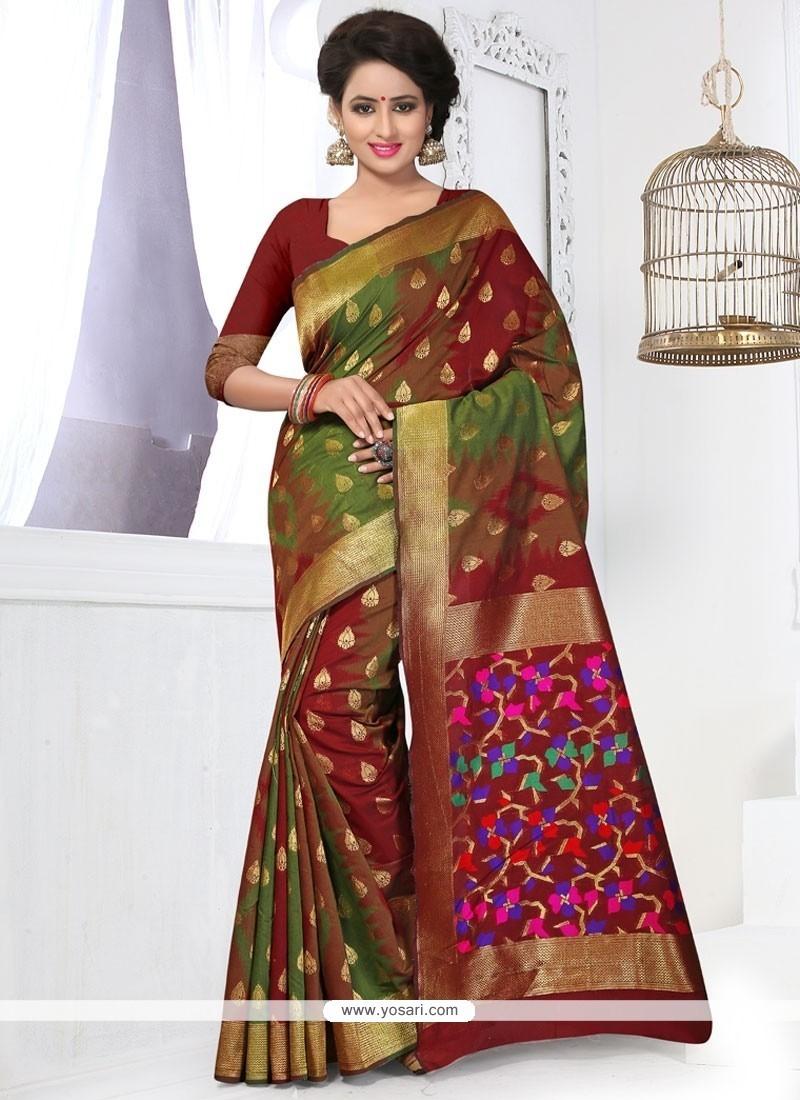 Alluring Weaving Work Banarasi Silk Designer Traditional Saree
