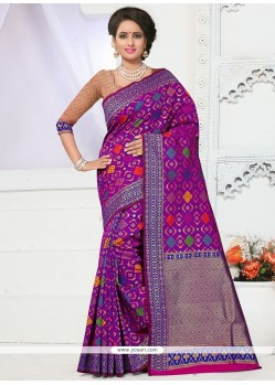 Refreshing Banarasi Silk Weaving Work Traditional Saree
