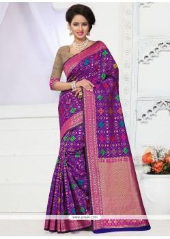 Pristine Purple Traditional Designer Saree