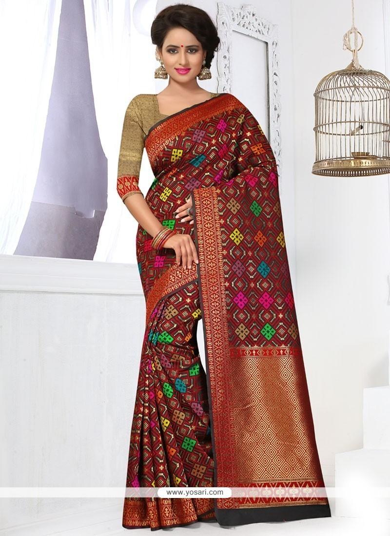 Exceptional Banarasi Silk Weaving Work Designer Traditional Saree
