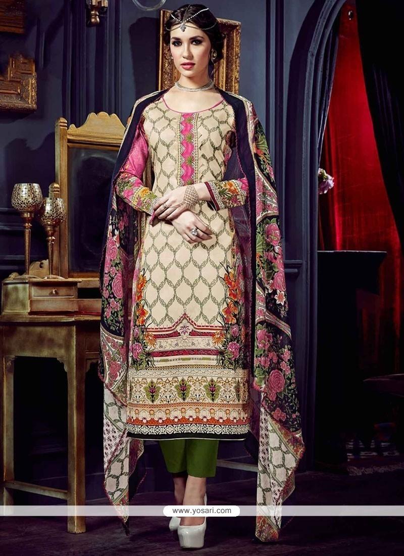 Stupendous Multi Colour Digital Print Work Pant Style Suit