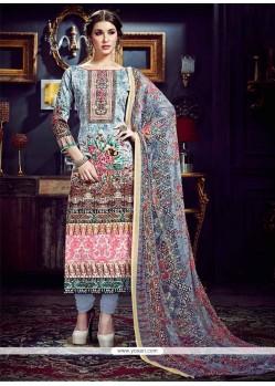 Epitome Multi Colour Cotton Silk Pant Style Suit