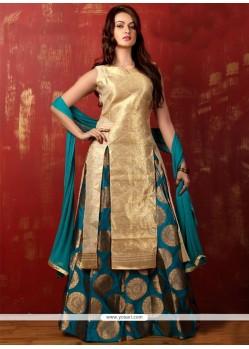 Irresistible Art Silk Weaving Work Long Choli Lehenga