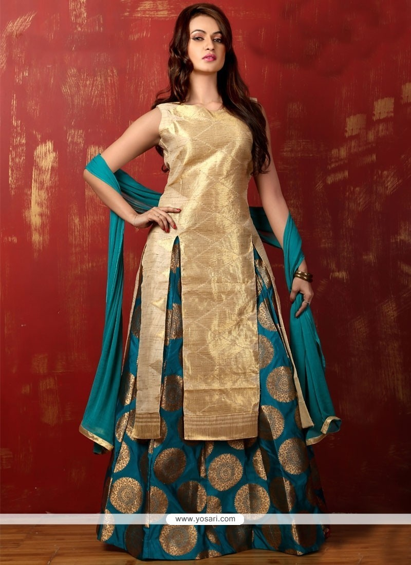 73ed8d40f9 Buy Irresistible Art Silk Weaving Work Long Choli Lehenga | Wedding ...