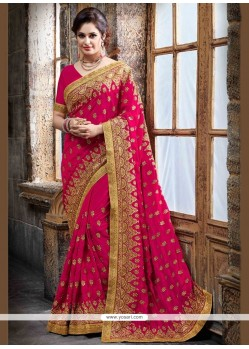 Snazzy Crepe Silk Embroidered Work Designer Traditional Saree