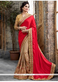 Fab Patch Border Work Crepe Silk Traditional Saree
