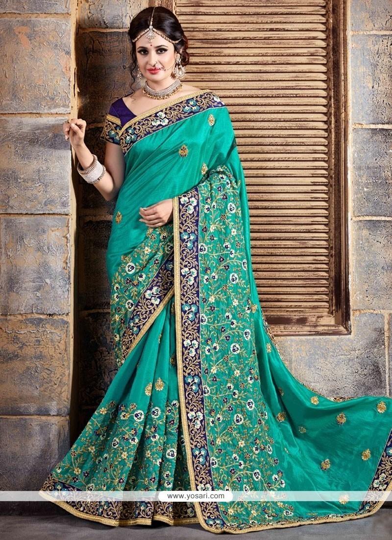Floral Crepe Silk Traditional Designer Saree
