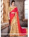 Excellent Designer Half N Half Saree For Bridal