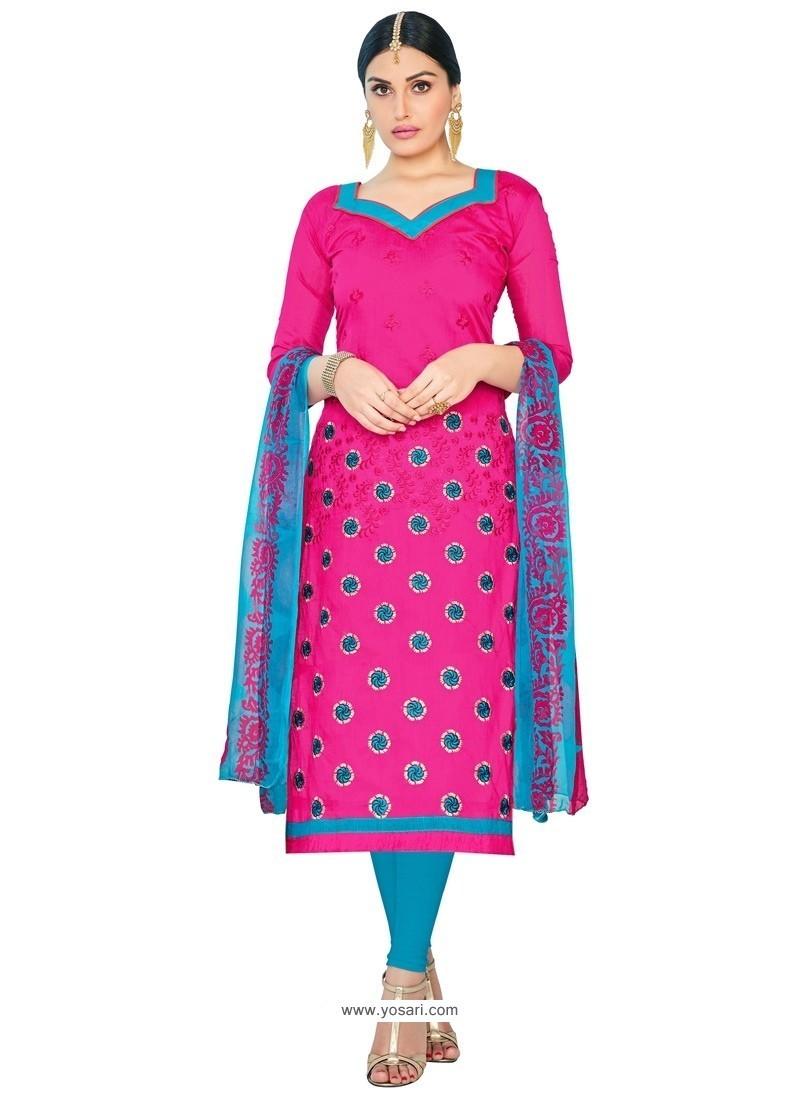 Majesty Chanderi Cotton Churidar Suit