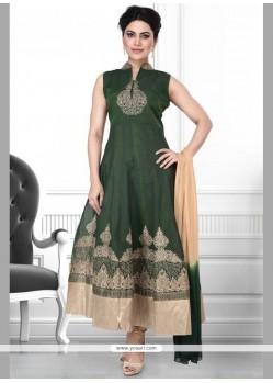 Suave Art Silk Embroidered Work Anarkali Salwar Kameez