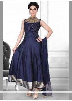 Noble Net Embroidered Work Anarkali Suit