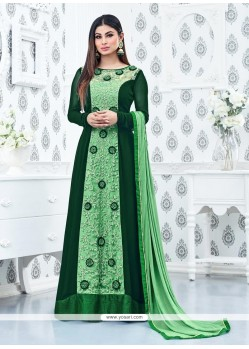 Splendid Embroidered Work Floor Length Anarkali Suit