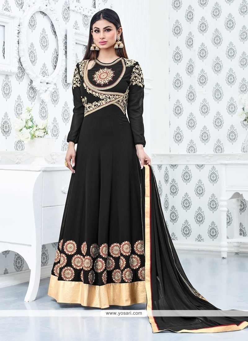 Extraordinary Faux Georgette Floor Length Anarkali Salwar Suit