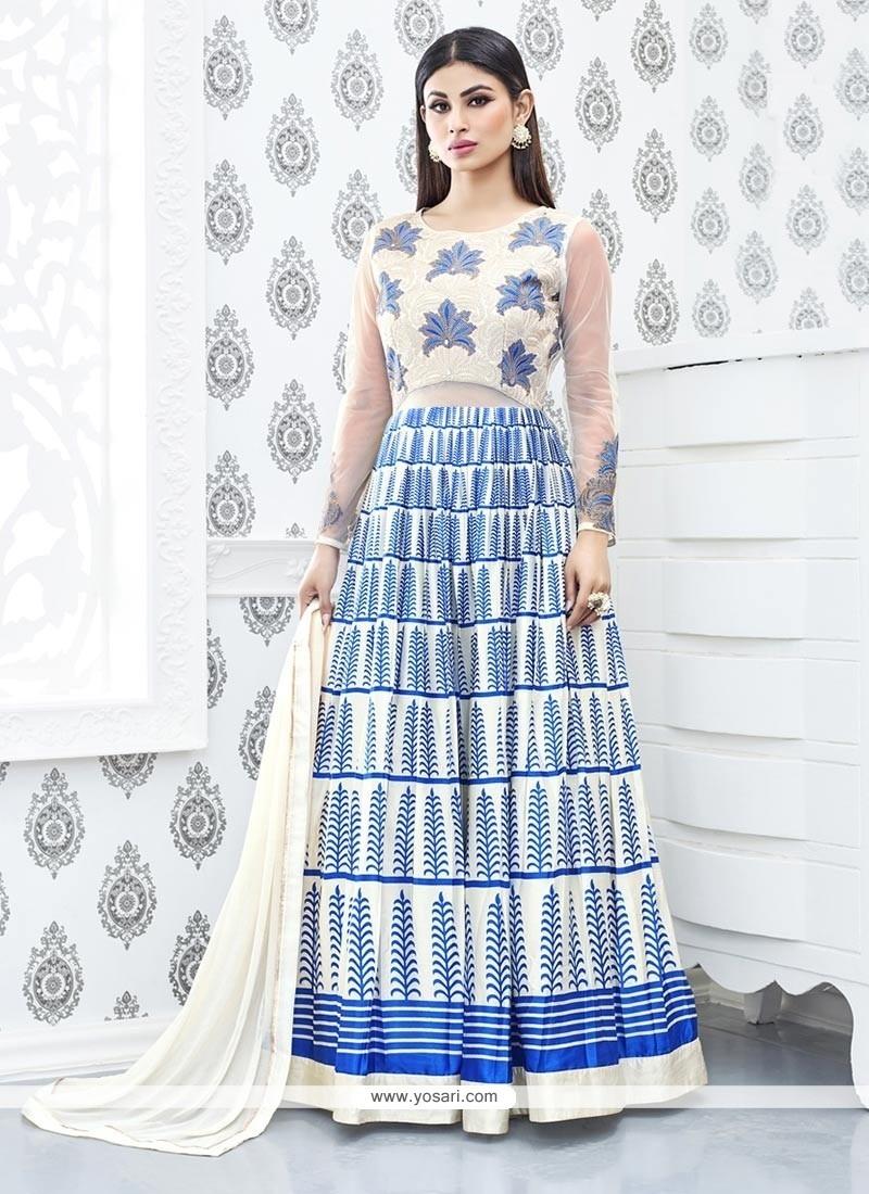 Opulent Embroidered Work Anarkali Suit