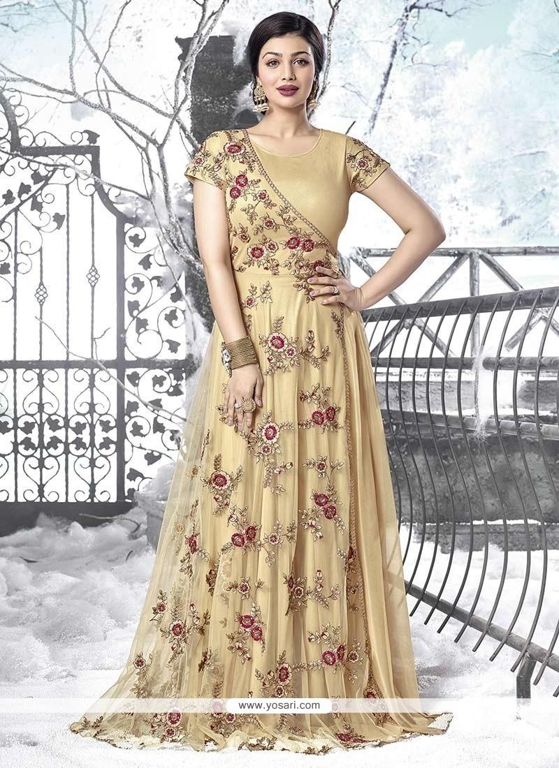 Ayesha Takia Resham Work Designer Floor Length Salwar Suit