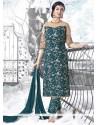 Ayesha Takia Resham Work Teal Designer Suit