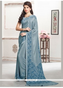 Demure Blue Casual Saree