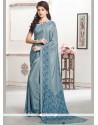 Demure Blue Casual Saree